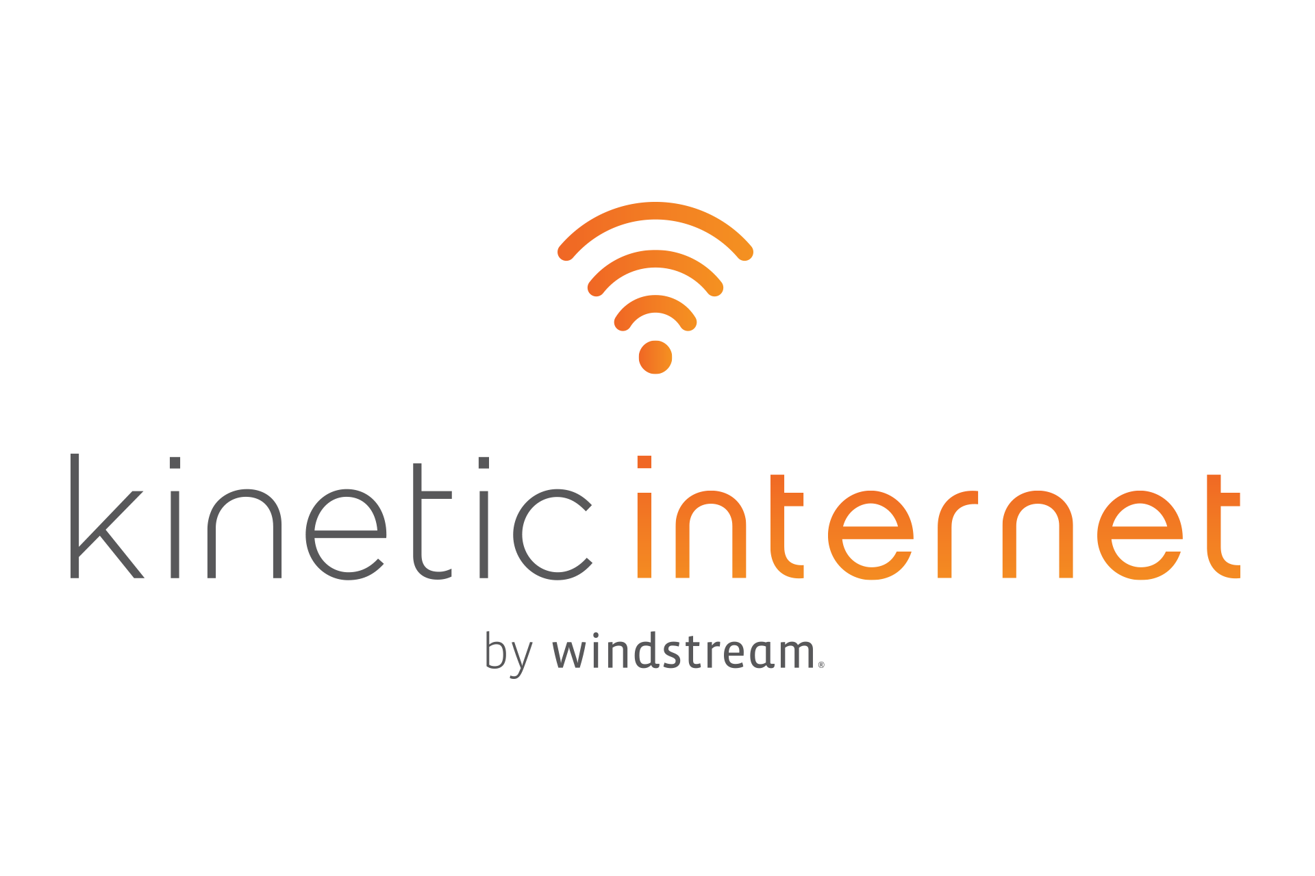 Kinetic Internet by windstream logo.