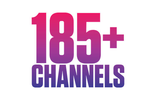 185+ channels