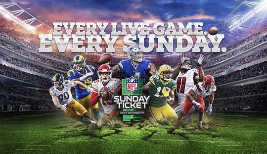 A picture of an NFL Sunday Ticket promo.