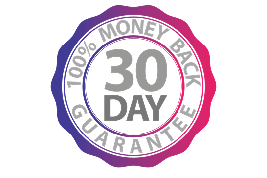 30-Day Money-Back Guarantee Logo.